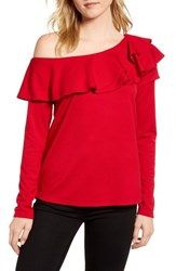 Gibson X Living In Yellow Elizabeth Date Night Top Red