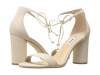 Steve Madden Shays Ice Nubuck High Heels White