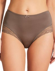 Fine Lines Luxuries Microfiber Full Briefs Mocha