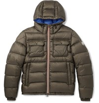 Moncler Morane Quilted Shell Hooded Down Jacket Army Green