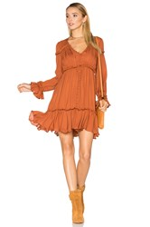 Cinq A Sept Ashburn Dress Burnt Orange