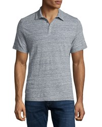 Zachary Prell Short Sleeve Melange Knit Polo Gray Men's