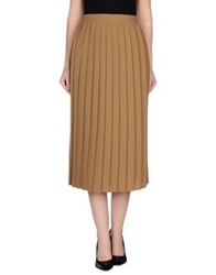 Kaos 3 4 Length Skirts Camel