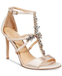 Jewel Badgley Mischka Galvin Evening Sandals Created For Macy's Women's Shoes Champagne