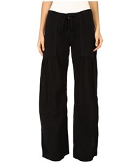 Xcvi Willow Wide Leg Stretch Poplin Pants Black Women's Casual Pants