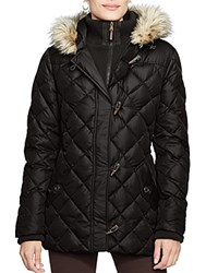 Lauren Ralph Lauren Quilted Toggle Puffer Jacket Black