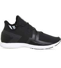 Adidas Y3 Arc Rc Leather Trainers Core Black White