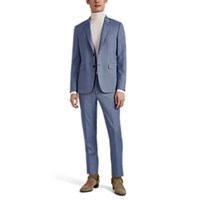Paul Smith Kensington Houndstooth Wool Two Button Suit Lt. Blue