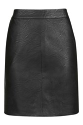 Topshop Tall Pu Short Pencil Skirt Black