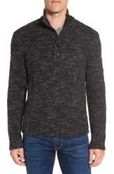 Grayers Men's 'Jennings' Button Mock Neck Wool Blend Sweater