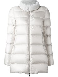 Moncler 'Torcyn' Padded Coat Nude And Neutrals