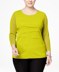 Alfani Plus Size Tiered Top Only At Macy's Luxe Lime