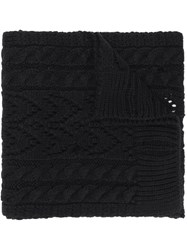 Maison Martin Margiela Mm6 Cable Knit Scarf Black