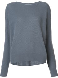 Organic By John Patrick Round Neck Sweater Grey