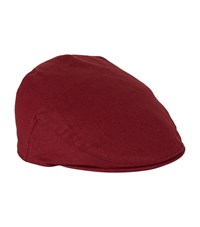 Christys' London Linen Flat Cap Unisex Red