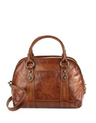 Frye Melissa Domed Satchel Cognac
