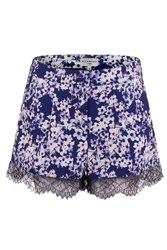 Wolf And Whistle Blossom Print Shorts Blue