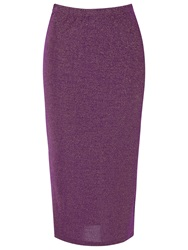 True Decadence Slim Fit Midi Pencil Skirt Purple