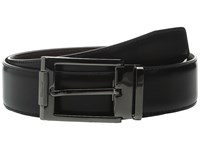 Salvatore Ferragamo Double Adjustable Belt 679404 Nero Auburn Suede Men's Belts Black