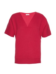 Tomas Maier V Neck Cashmere Knit Sweater