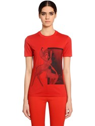Givenchy Fitted Bambi Print Cotton Jersey T Shirt