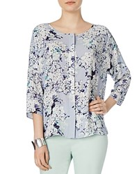 Phase Eight Laurie Floral Print Blouse Grey Multi