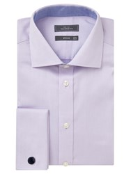 John Lewis Dobby Double Cuff Tailored Shirt Lilac