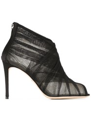 Dolce And Gabbana Tulle Booties Black