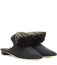 Sanayi 313 Exclusive To Mytheresa.Com Sanguarina Canvas Mules Black