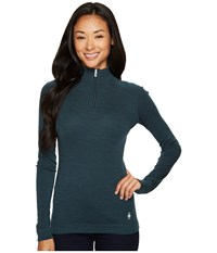 Smartwool Nts Mid 250 Baselayer Zip Top Lochness Heather Long Sleeve Pullover Multi