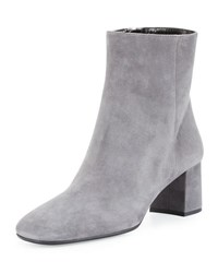 Prada Suede Block Heel 55Mm Boot Nebbia