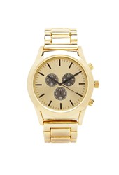 Forever 21 Analog Chronograph Watch Gold Gold