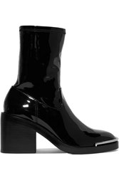 Alexander Wang Hailey Metal Trimmed Pvc Ankle Boots Black