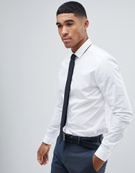 River Island Slim Fit Smart Shirt In White