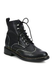 Rag And Bone Cozen Studded Leather Booties Black