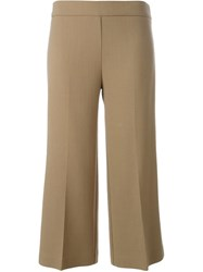 P.A.R.O.S.H. Flared Cropped Trousers Nude And Neutrals