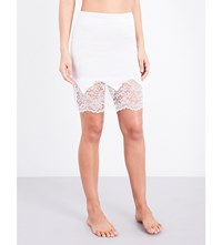 Else Yasmine Stretch Silk And Laces Slip Skirt Ivory