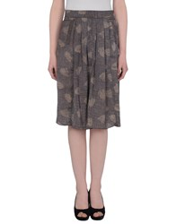 Soho De Luxe Knee Length Skirts Grey