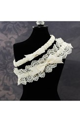 Cathy's Concepts Women's 'Eleanor' Lace Wedding Garter Ivory