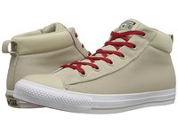 Converse Chuck Taylor All Star Street Ballistic Mid Frayed Burlap White Casino Men's Lace Up Casual Shoes Beige