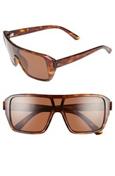 Electric Eyewear Women's Electric 'Blast' 60Mm Shield Sunglasses Tortoise Shell Bronze