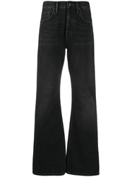 Acne Studios Mid Rise Flared Jeans Black