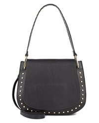 Jaeger Eva Stud Shoulder Bag Black