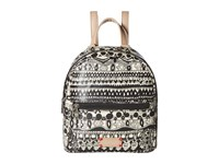Sakroots Mini Crossbody Backpack Black White One World Backpack Bags Beige