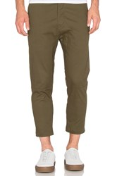 Stampd Cropped Chino Green