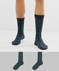 Selected Homme 2 Pack Socks Polka Dots Multi
