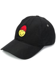 Ami Alexandre Mattiussi Cap Smiley Patch Black