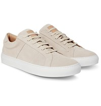 Greats The Royale Suede Sneakers Beige