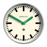 Newgate The Luggage Galvanised Wall Clock Green Hands