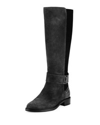Aquatalia By Marvin K Giada Suede Tall Boot Black
